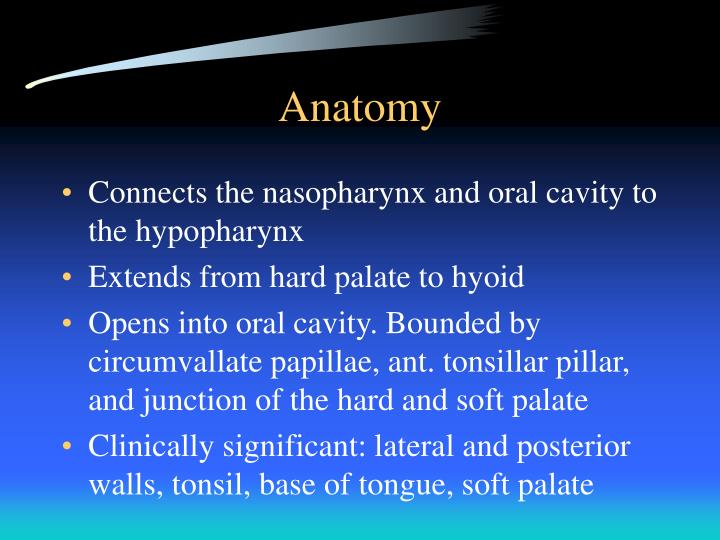 PPT - Surgical Approaches to the Oropharynx PowerPoint Presentation ...