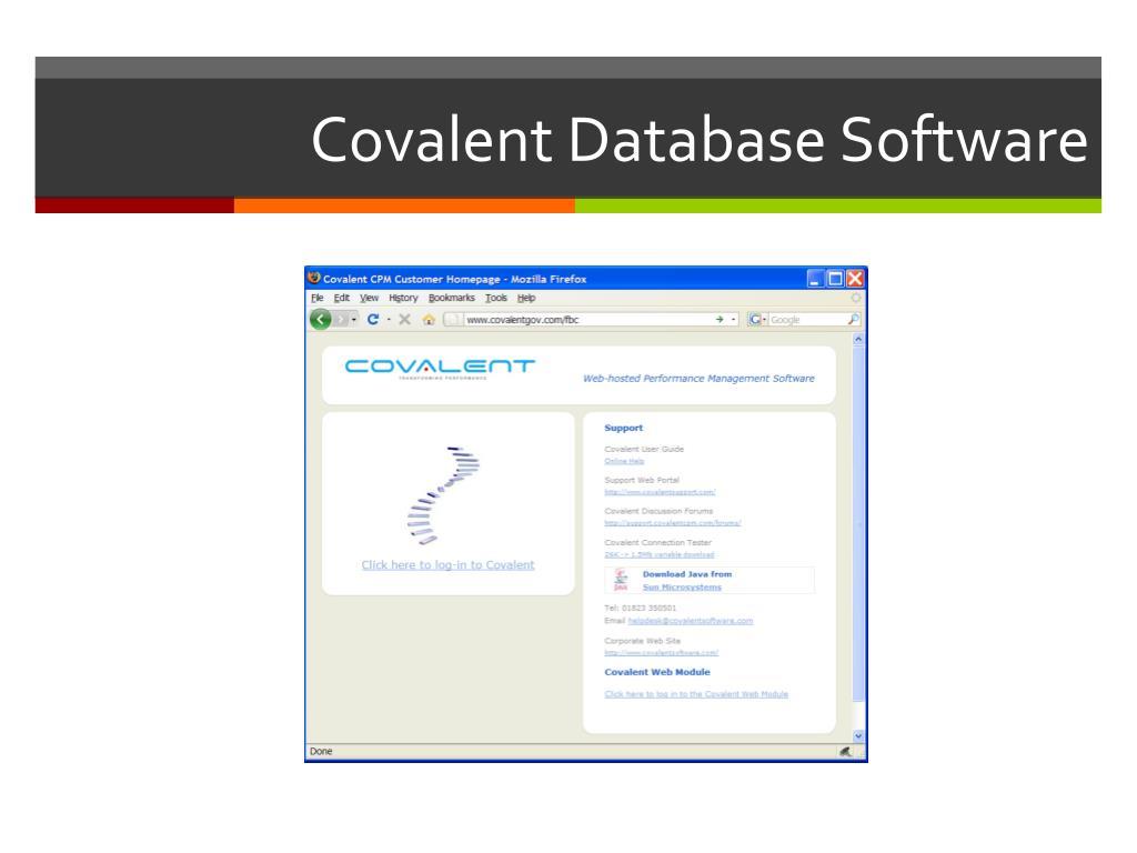 Covalent Database Software