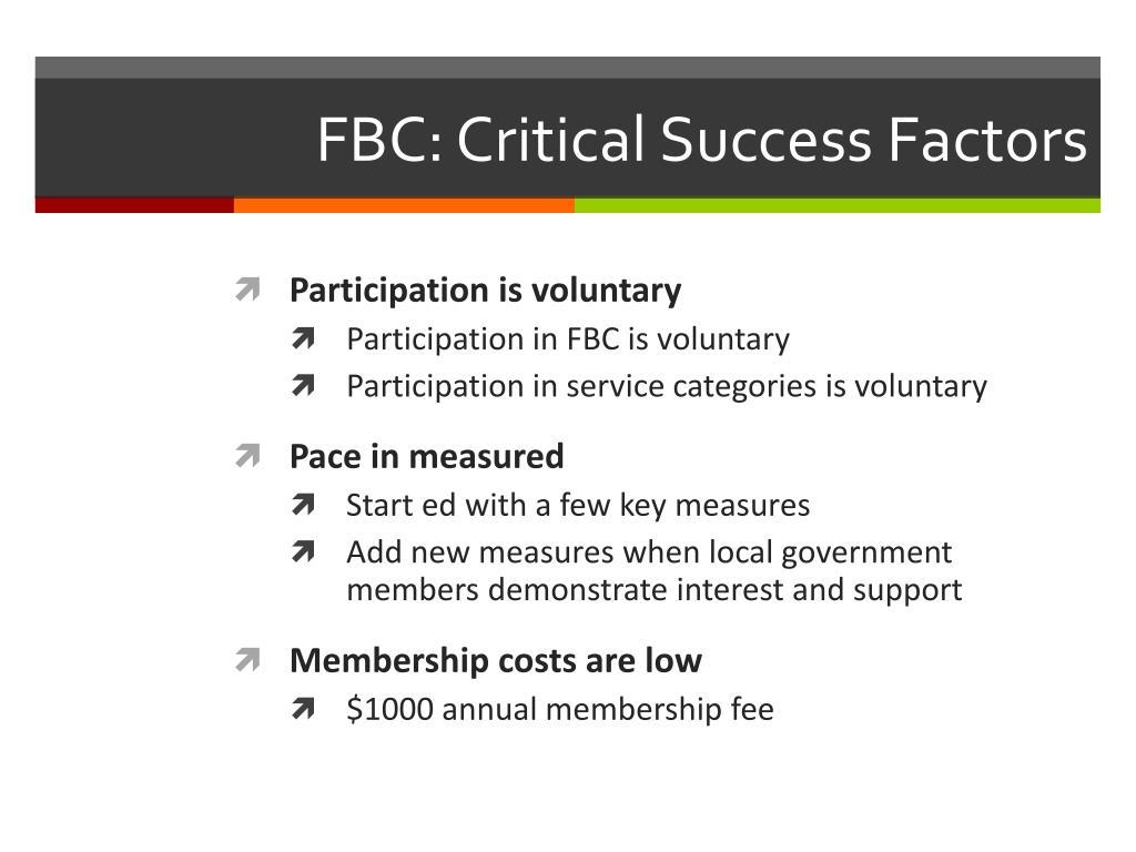 FBC: Critical Success Factors