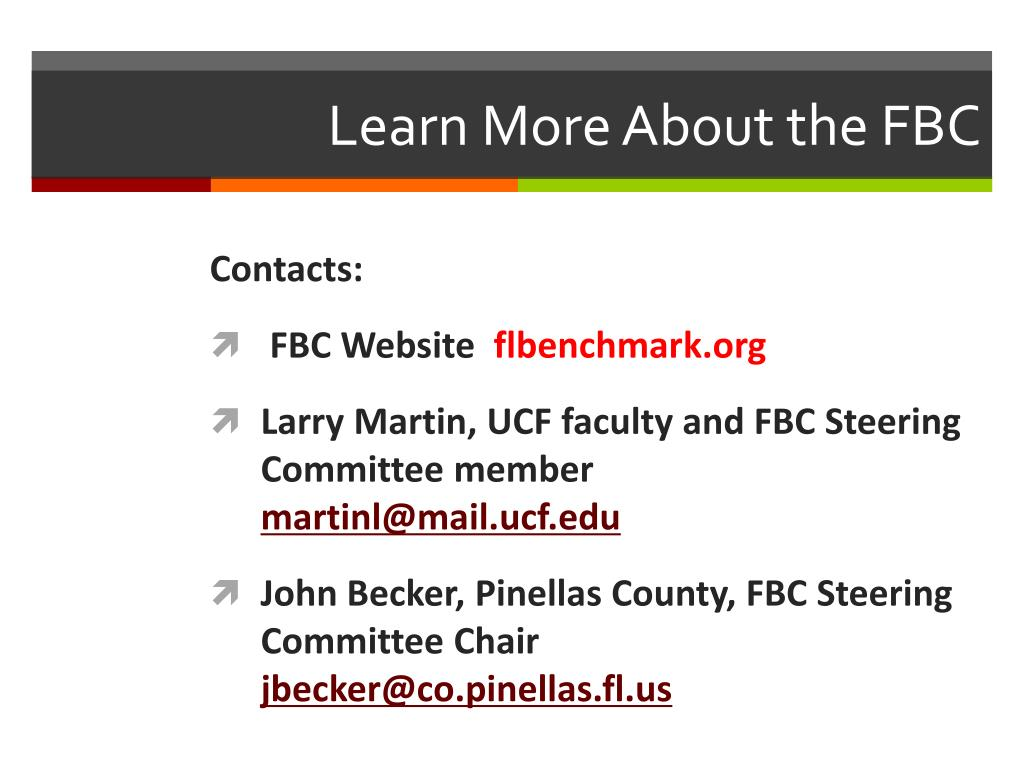 Learn More About the FBC