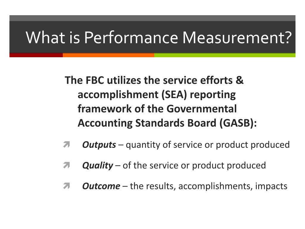 What is Performance Measurement?