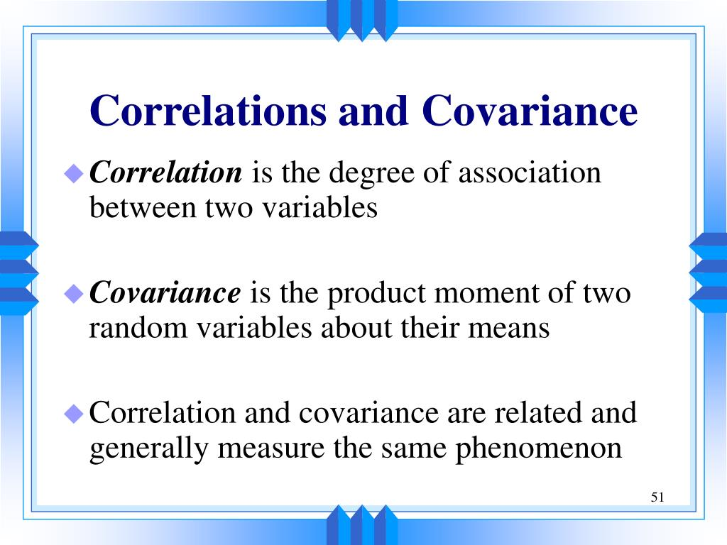 Correlations and Covariance