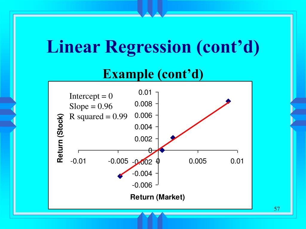 Linear Regression (cont'd)