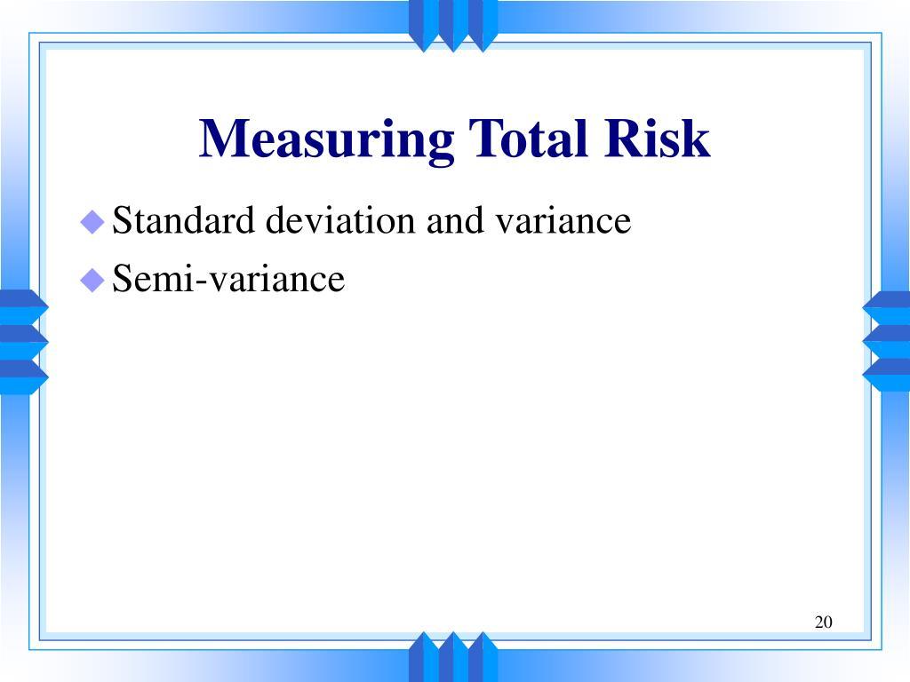 Measuring Total Risk