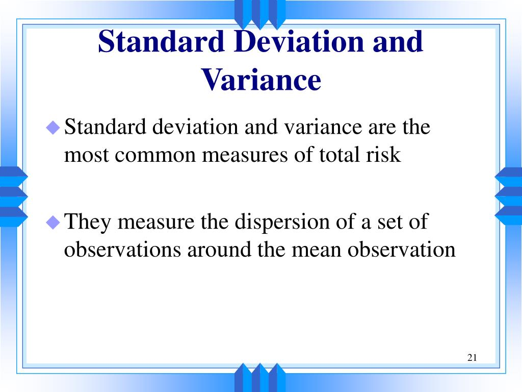 Standard Deviation and Variance