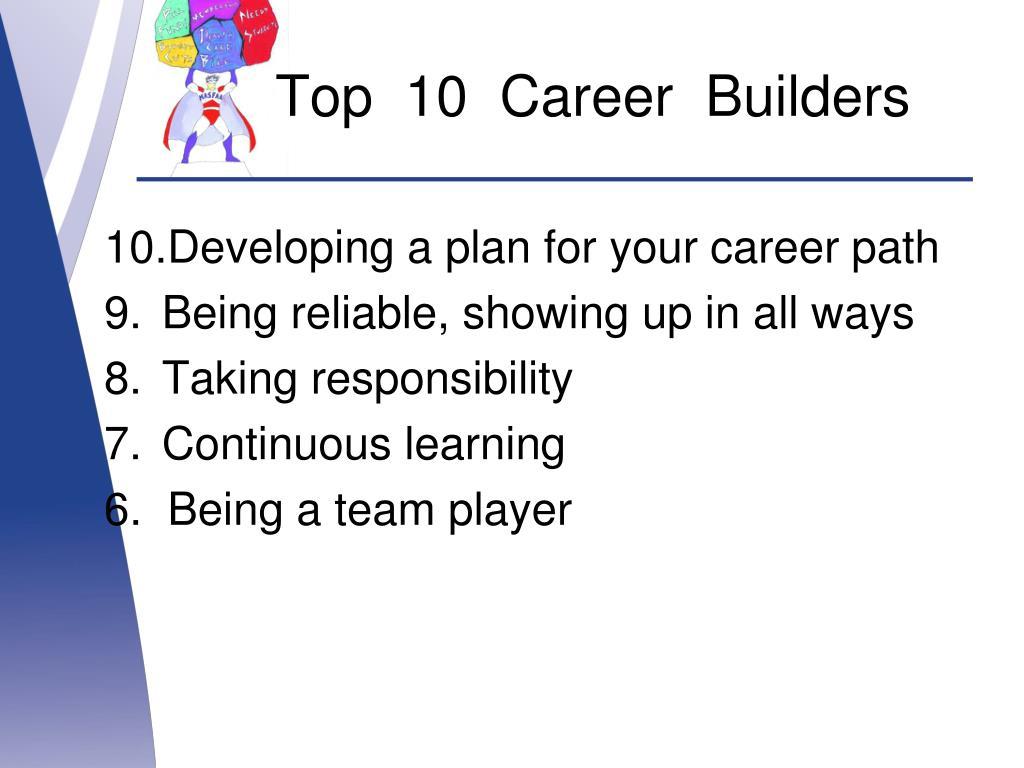 Top  10  Career  Builders