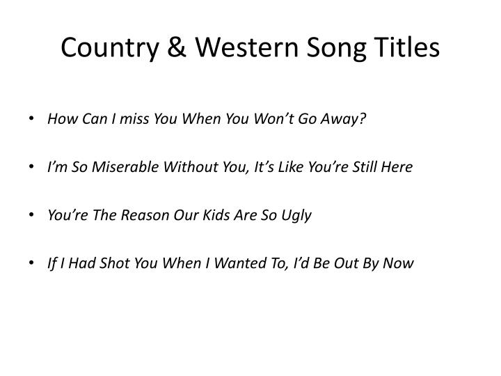 Country western song titles
