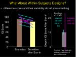 what about within subjects designs19