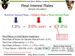 real interest rates simple calculation
