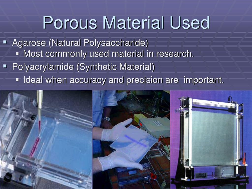 Porous Material Used