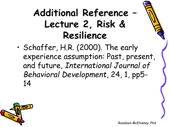 Additional reference lecture 2 risk resilience