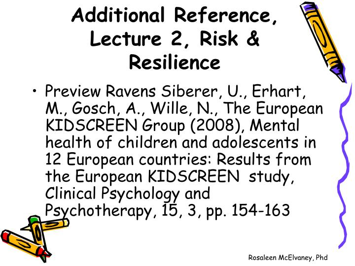 Additional reference lecture 2 risk resilience2