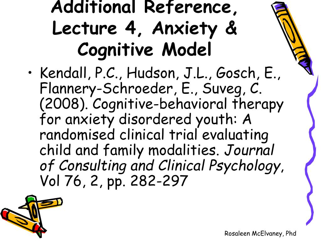 Additional Reference, Lecture 4, Anxiety & Cognitive Model