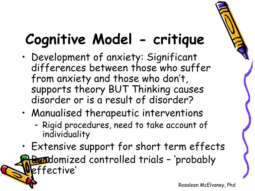 Cognitive Model - critique