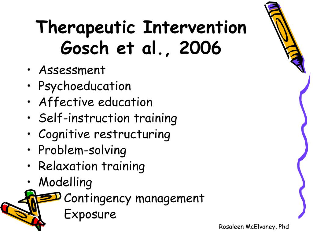 Therapeutic Intervention