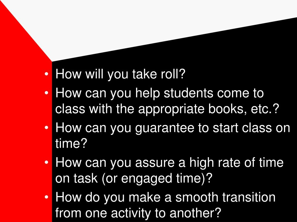 How will you take roll?