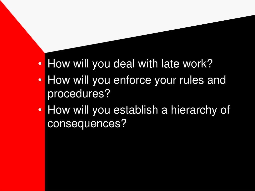 How will you deal with late work?