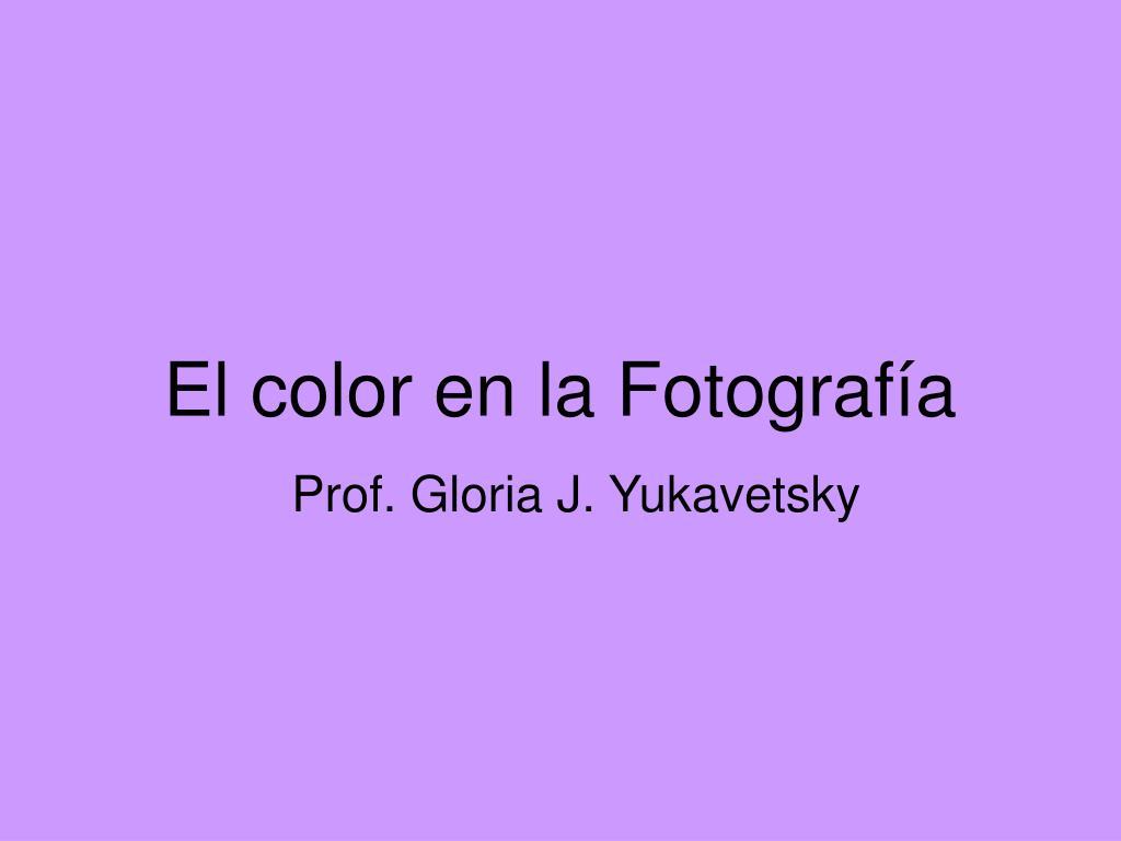 El color en la Fotografía