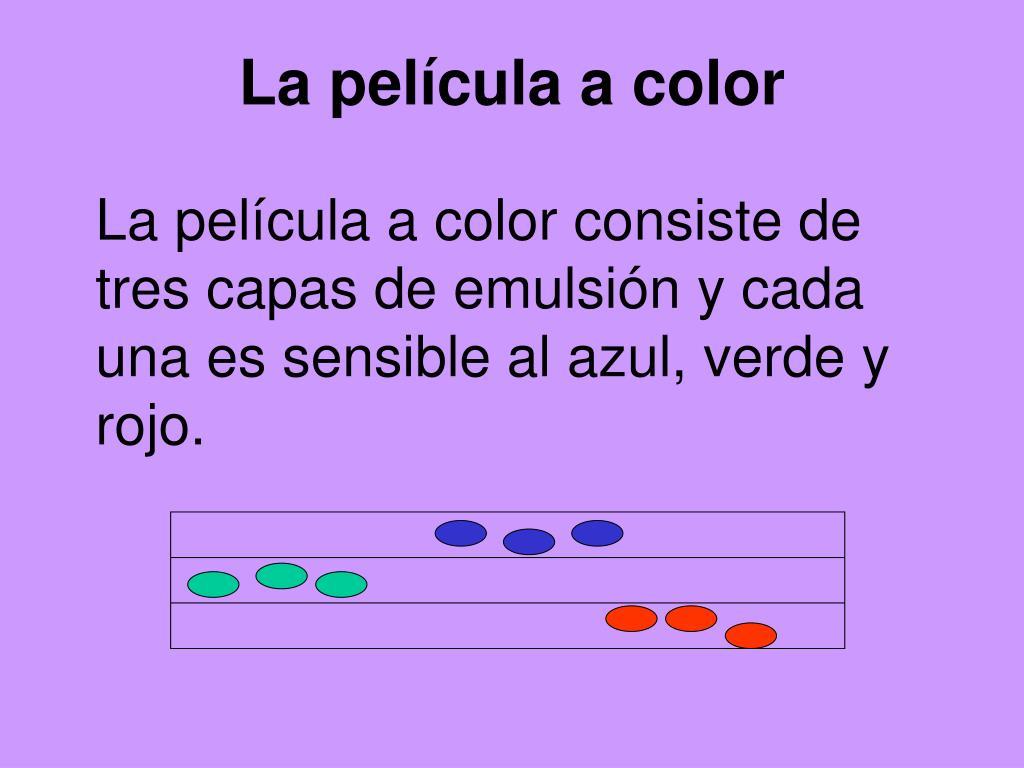 La película a color