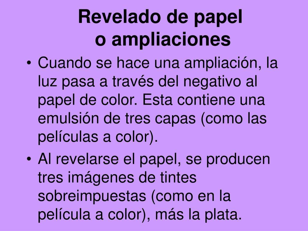 Revelado de papel