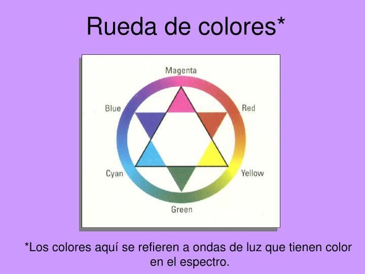 Rueda de colores*