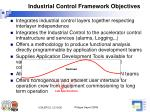 industrial control framework objectives