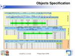 objects specification