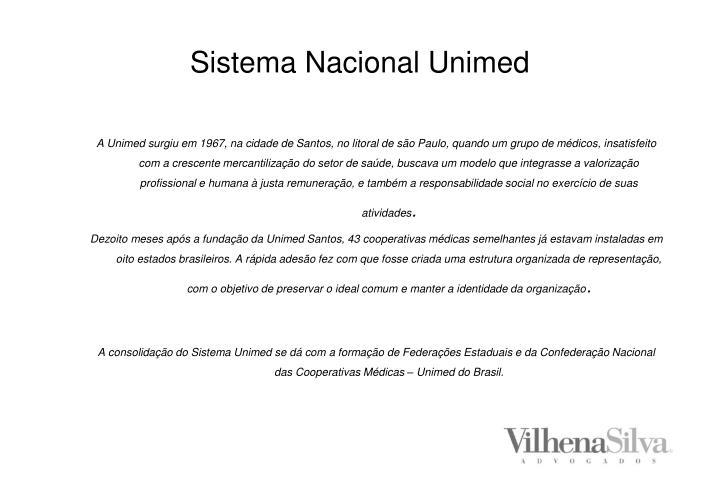 Sistema nacional unimed2