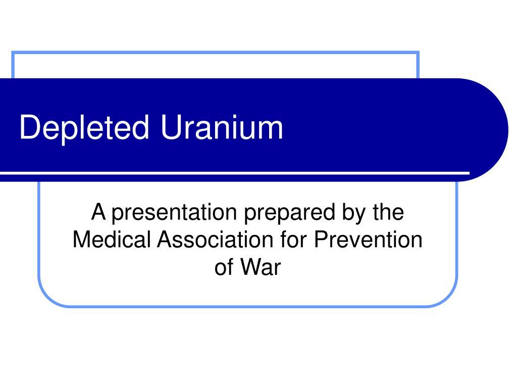 depleted uranium l.