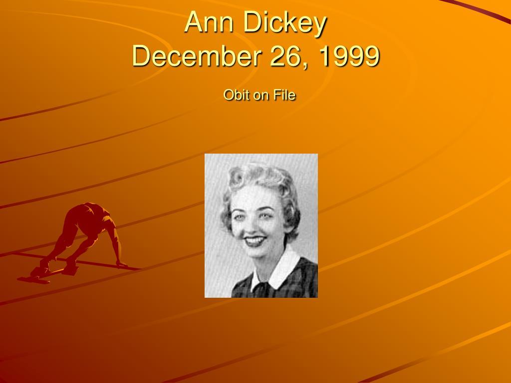 Ann Dickey