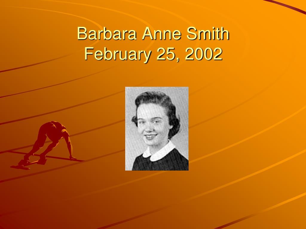 Barbara Anne Smith