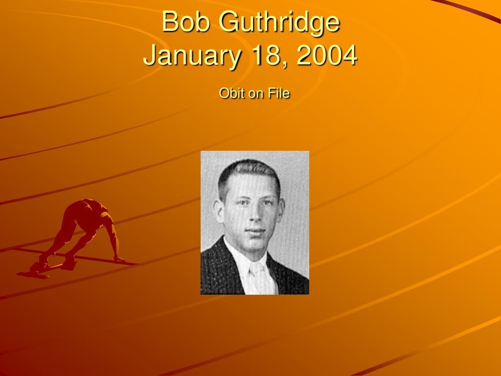 Bob Guthridge