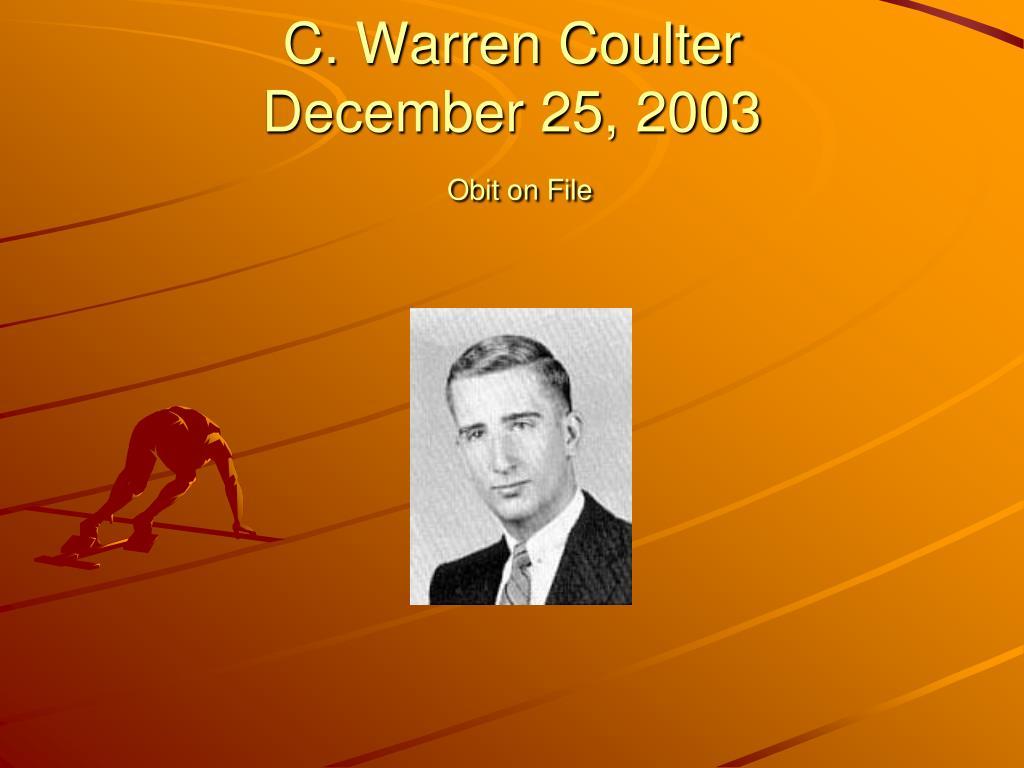 C. Warren Coulter