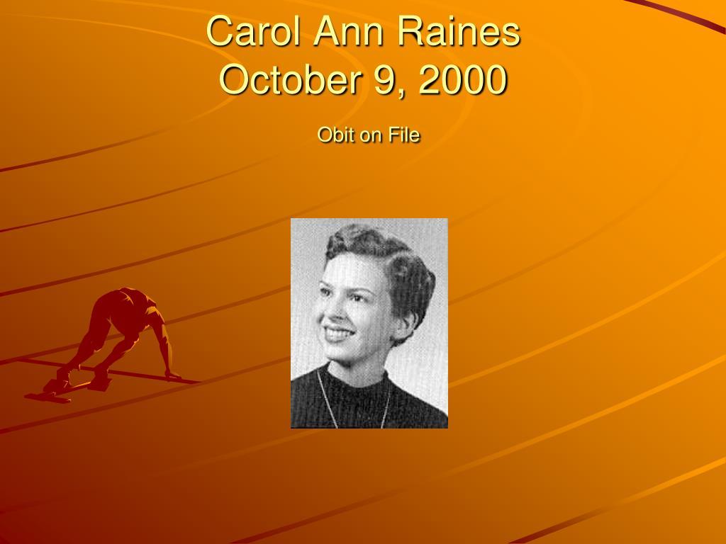 Carol Ann Raines
