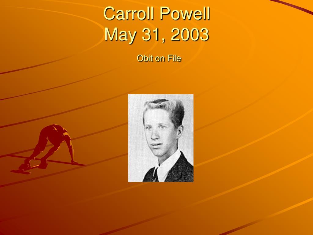 Carroll Powell