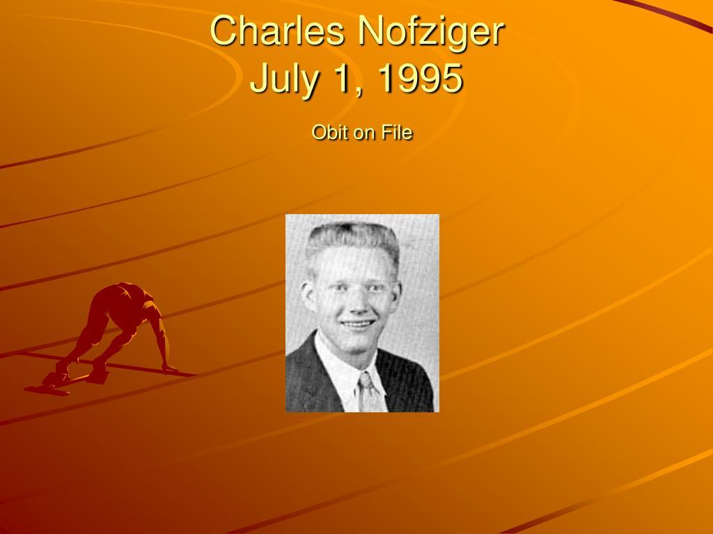 Charles Nofziger