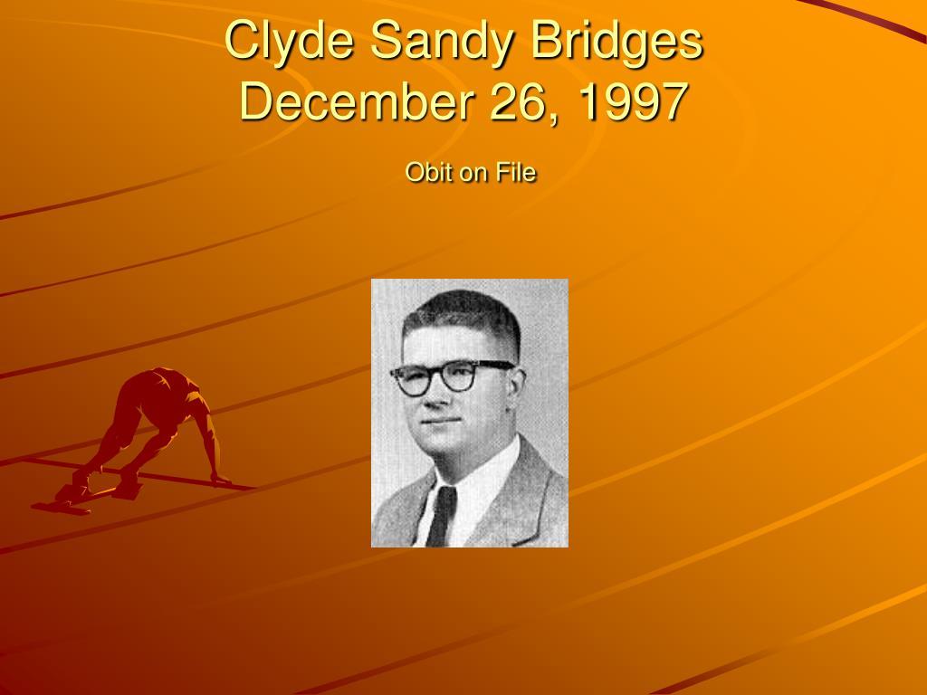 Clyde Sandy Bridges