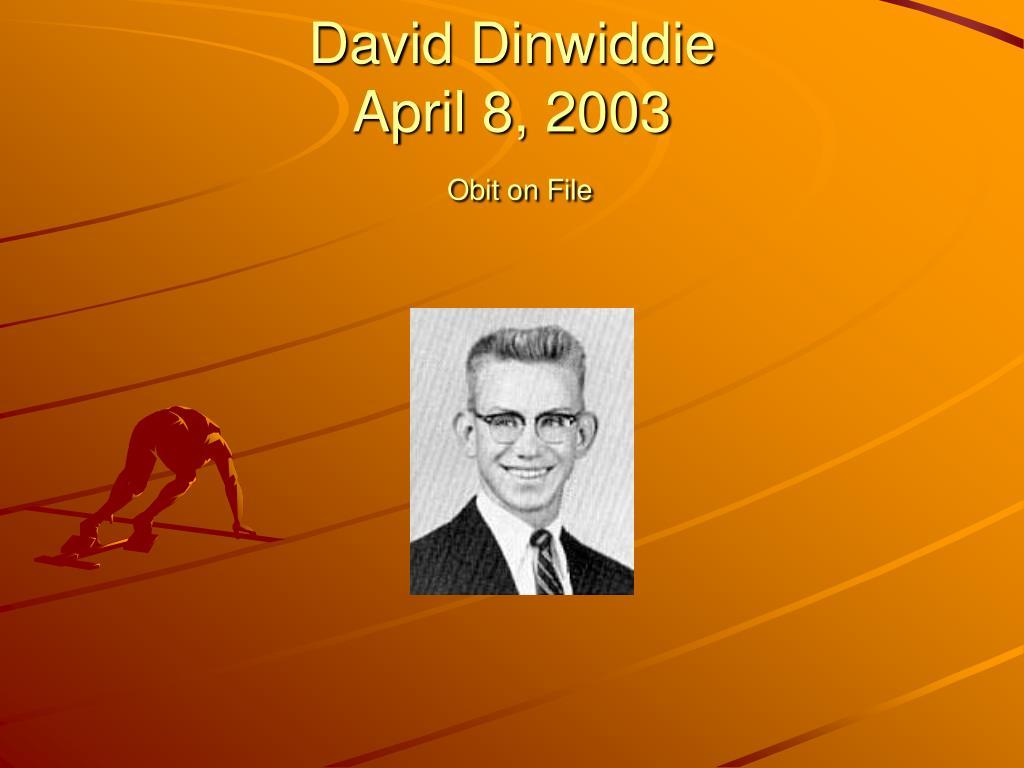 David Dinwiddie