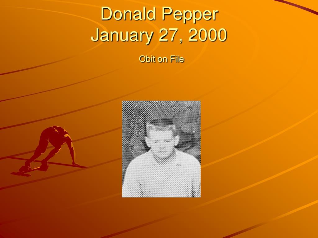Donald Pepper