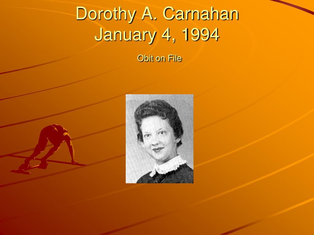 Dorothy A. Carnahan