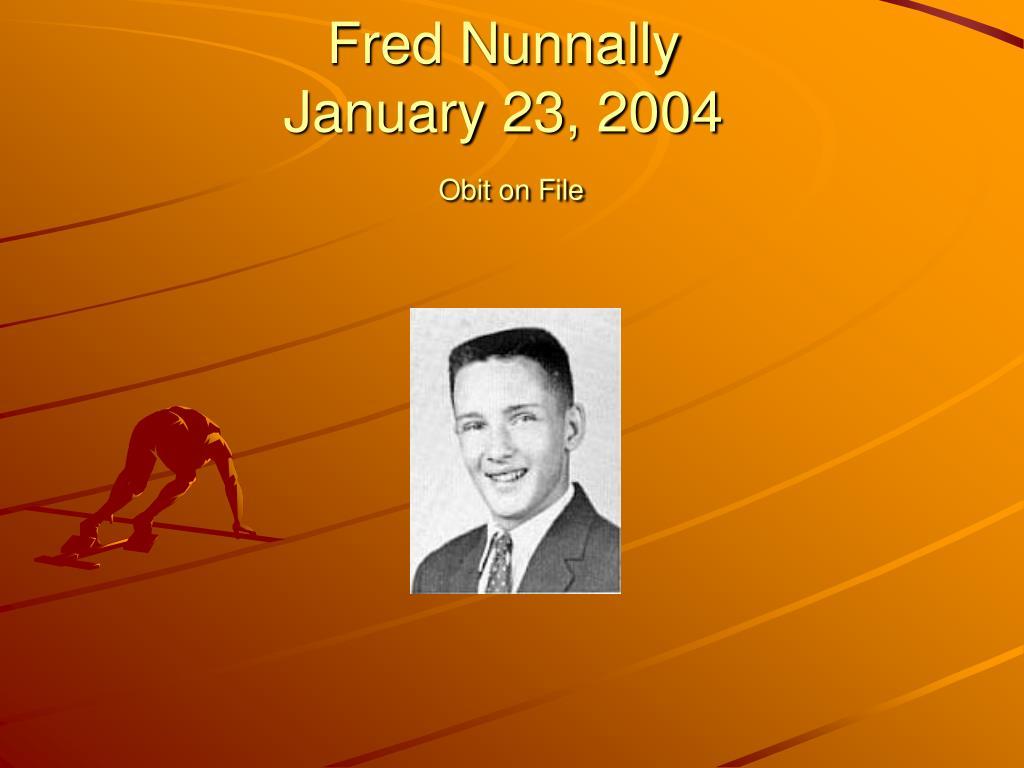 Fred Nunnally