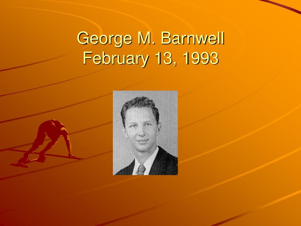 George M. Barnwell