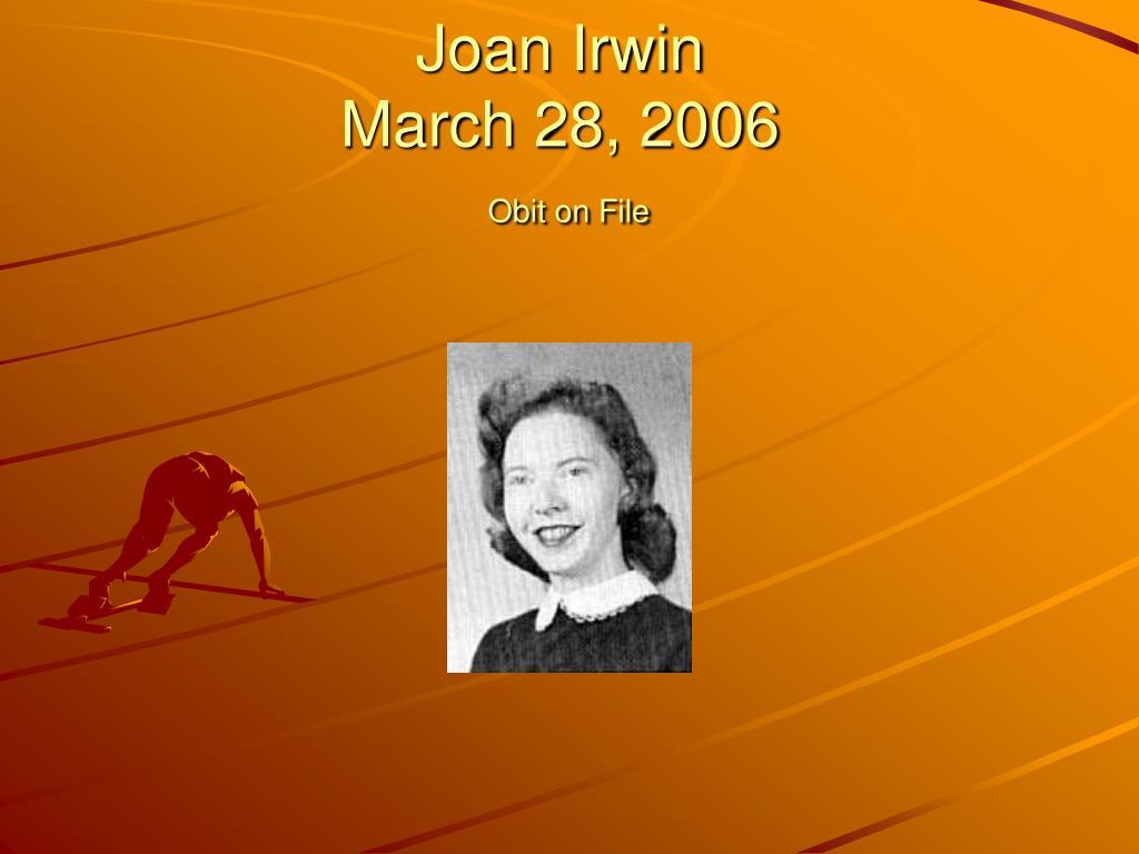 Joan Irwin