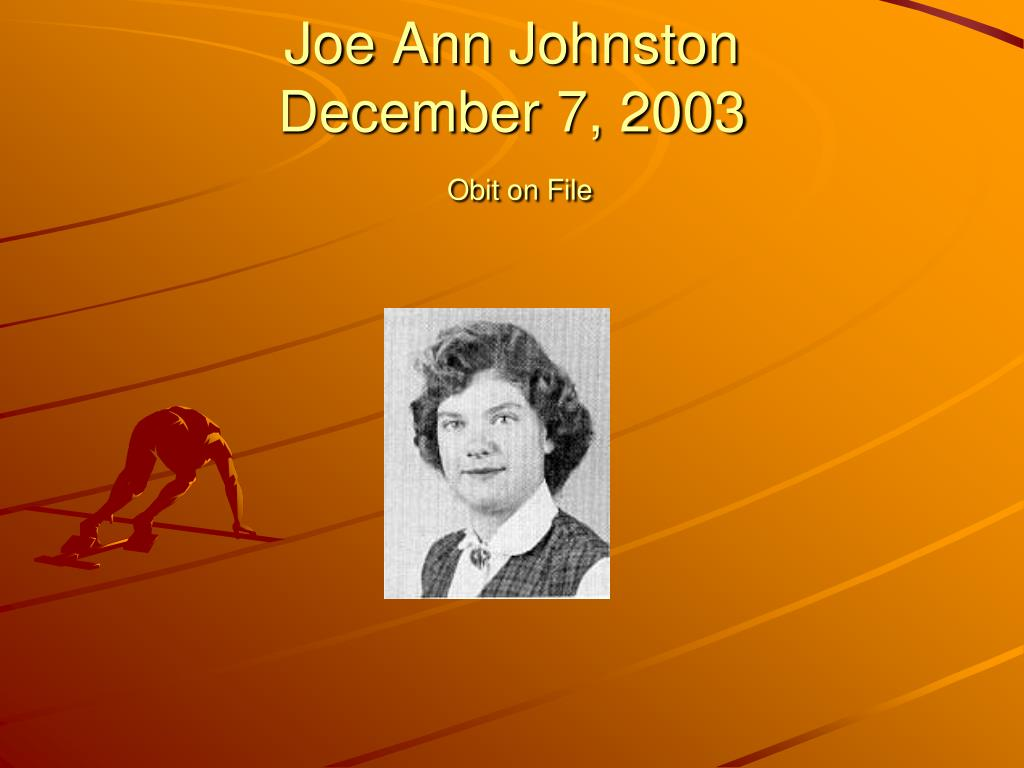 Joe Ann Johnston