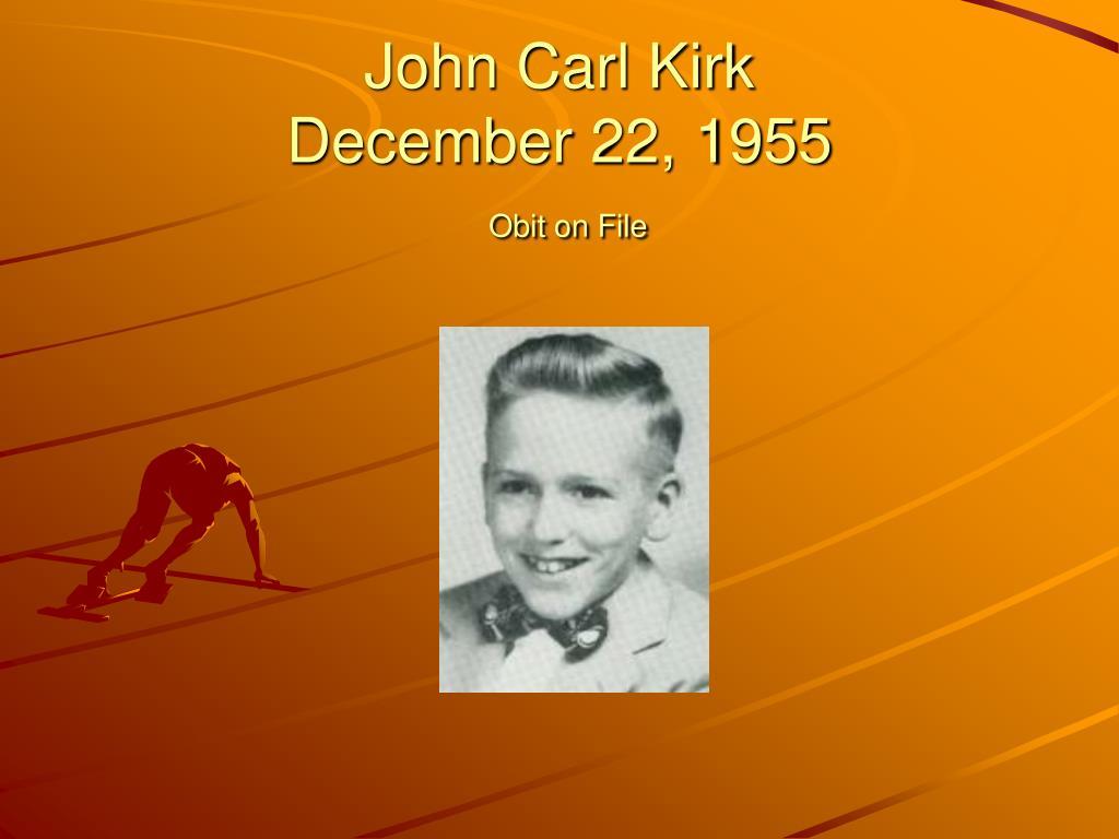 John Carl Kirk