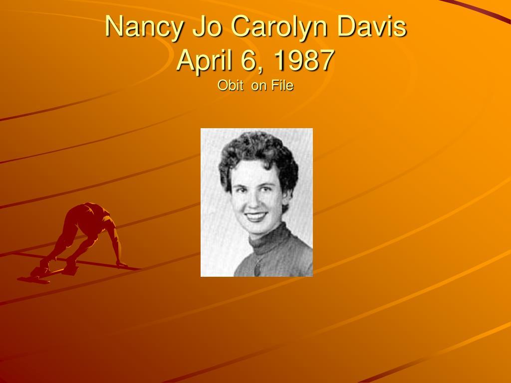Nancy Jo Carolyn Davis