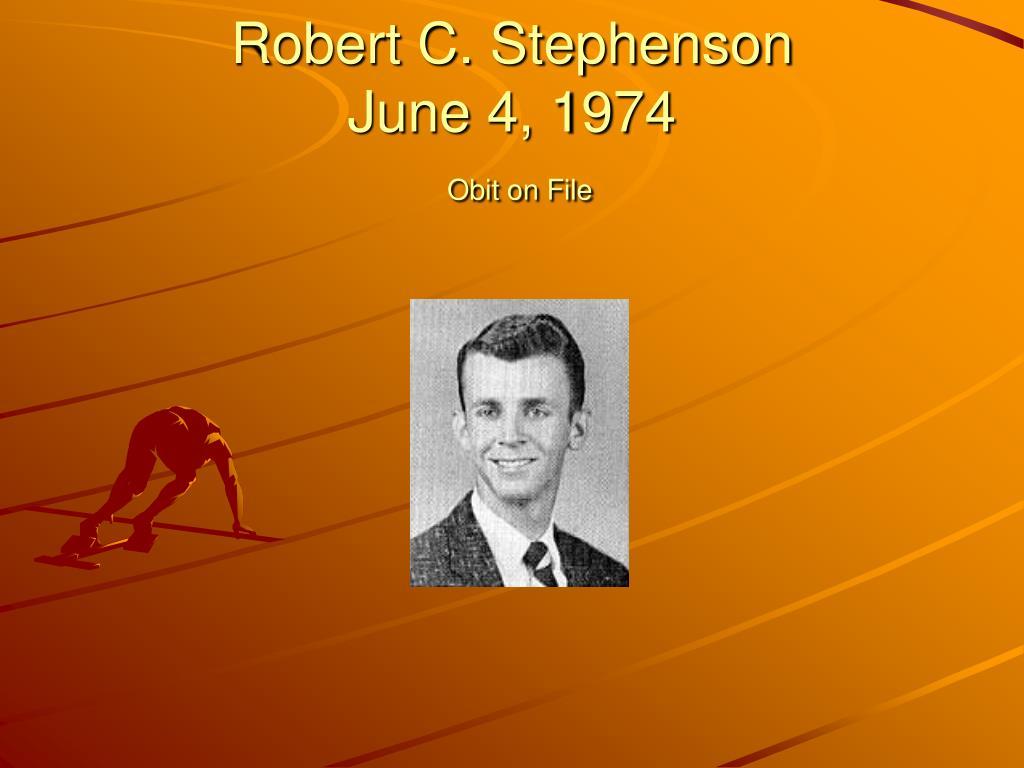 Robert C. Stephenson