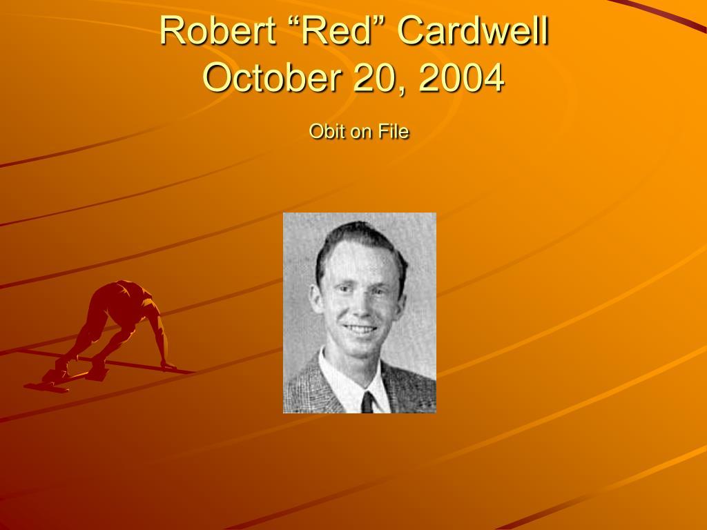"Robert ""Red"" Cardwell"