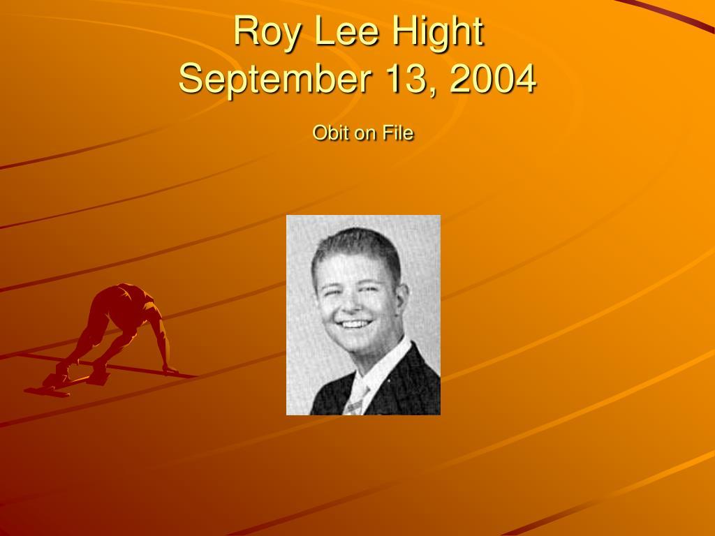 Roy Lee Hight