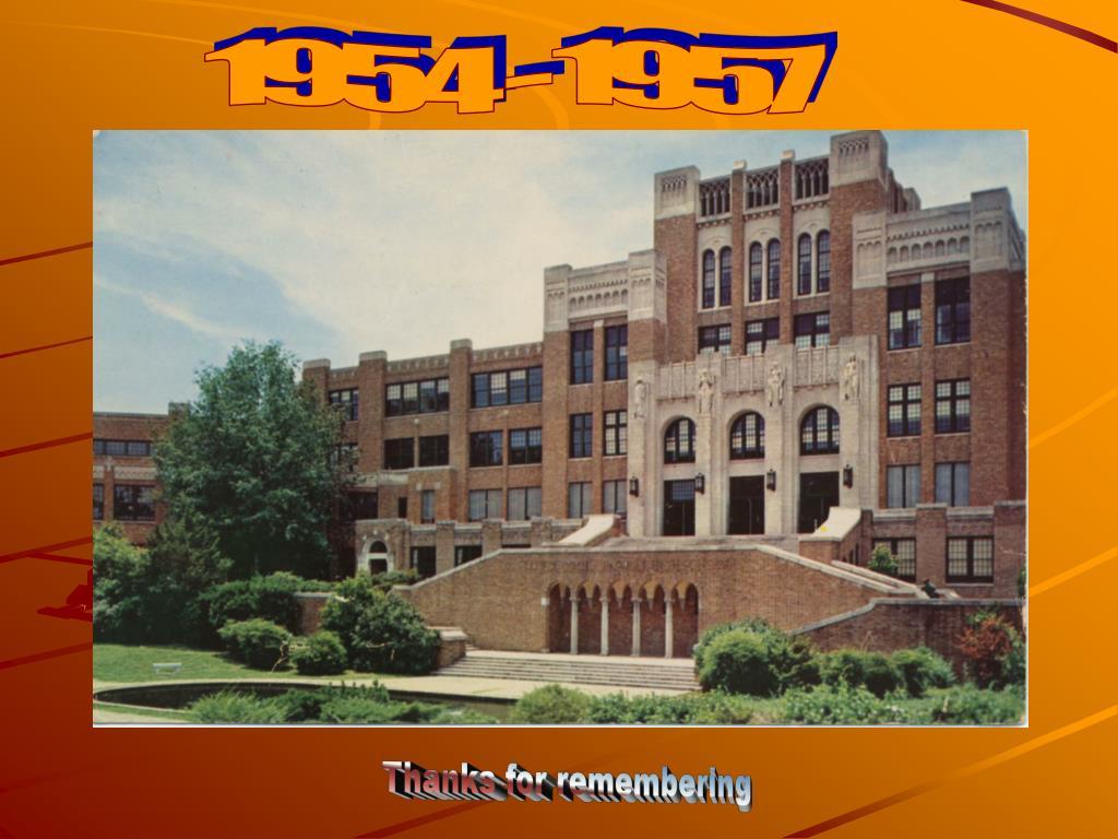 1954 - 1957